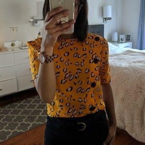 Topshop Tops - Topshop orange leopard print blouse